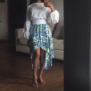 Colorful Hi-Lo Skirt